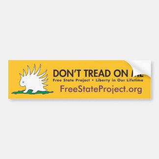 FSP Bumper Sticker Porcupine Gadsden