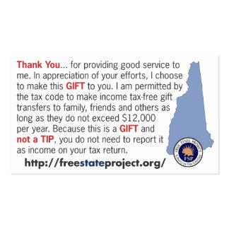 FSP Not a Tip Card