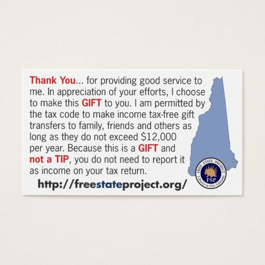 FSP Not a Tip Card