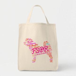 FSPR Grocery Tote - Word Cloud