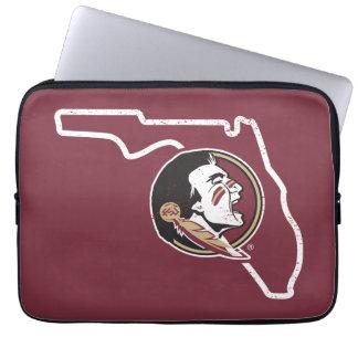 FSU   Classic Seminoles State Logo Laptop Sleeve