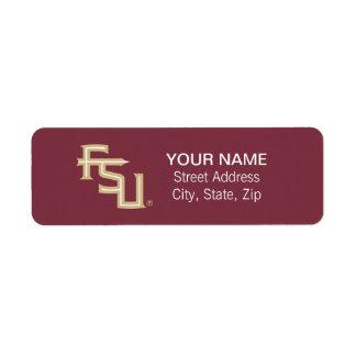 FSU Seminoles Return Address Label