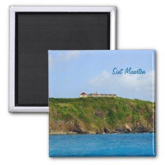 Ft. Amsterdam St Maarten 2 Inch Square Magnet