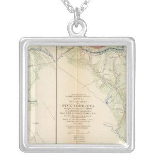 Ft BradyFt Burnham Five Forks Silver Plated Necklace