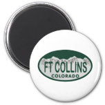 Ft Collins license oval 2 Inch Round Magnet