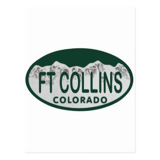 Ft Collins license oval Postcard