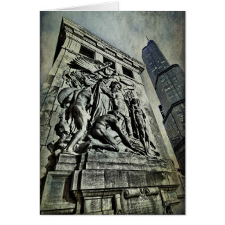 Ft Dearborn Monument Card