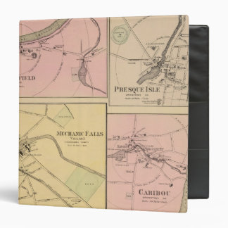 Ft Fairfield, Presque Isle, Caribou Map 3 Ring Binder