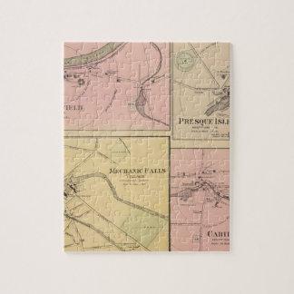 Ft Fairfield, Presque Isle, Caribou Map Jigsaw Puzzle