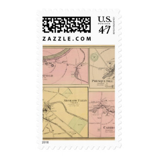 Ft Fairfield, Presque Isle, Caribou Map Postage