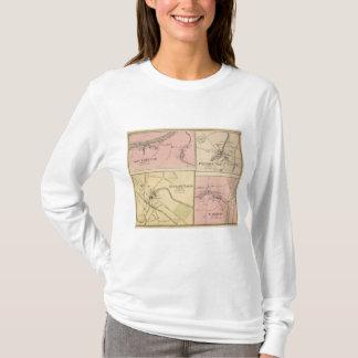 Ft Fairfield, Presque Isle, Caribou Map T-Shirt