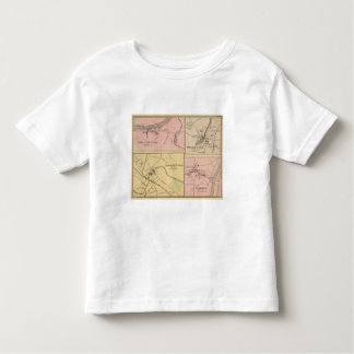 Ft Fairfield, Presque Isle, Caribou Map Toddler T-shirt