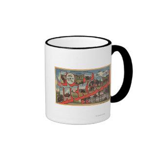 Ft. Jackson, South Carolina - Large Letter Scene Ringer Coffee Mug