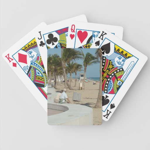 Ft Lauderdale Beach Bicycle Playing Cards