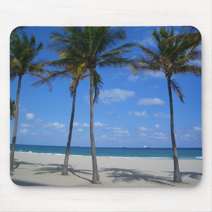 Ft Lauderdale Beach - Florida Palm Trees Mouse Pad
