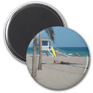 Ft Lauderdale Beach Lifeguard Stand 2 Inch Round Magnet