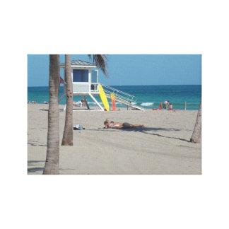 Ft Lauderdale Beach Lifeguard Stand Canvas Print