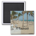 lauderdale, fort, florida, beach, palm, trees,