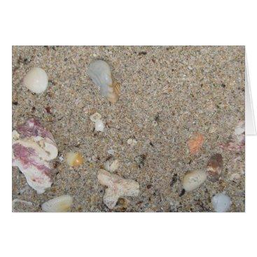 Beach Themed Ft. Lauderdale Beach Sand and Shells Card