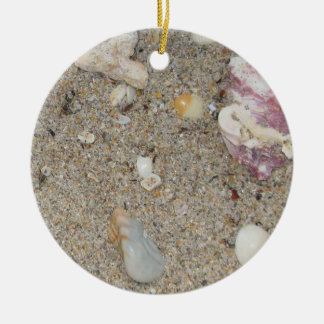 Ft. Lauderdale Beach Sand and Shells Ceramic Ornament