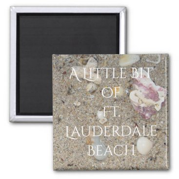 Beach Themed Ft. Lauderdale Beach Sand and Shells Magnet