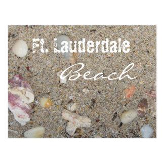 Ft. Lauderdale Beach Sand and Shells Postcard