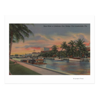 Ft. Lauderdale, FL - New River View & Andrews Postcard