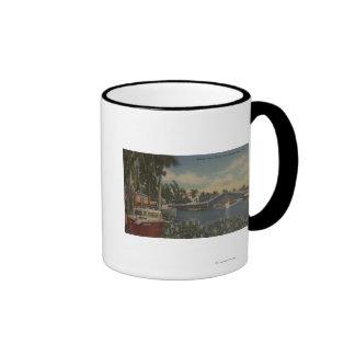 Ft. Lauderdale, FL - New River View & Drawbridge Ringer Coffee Mug