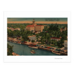 Ft. Lauderdale, FL - View of New River & Court Postcards