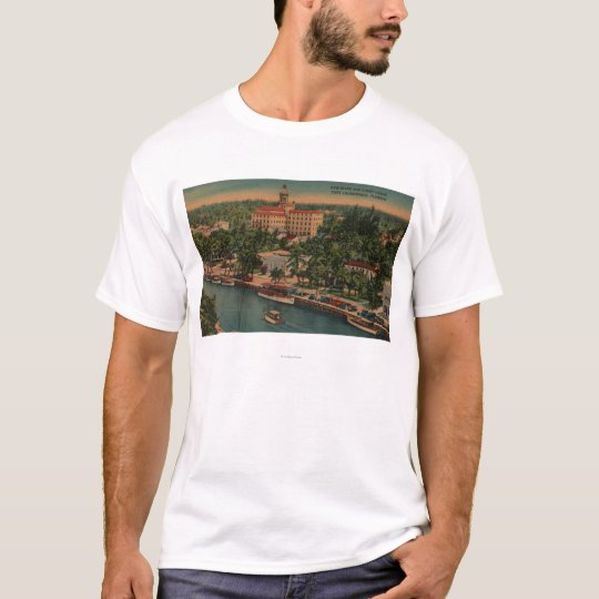 Ft. Lauderdale, FL - View of New River & Court T-Shirt