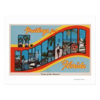 Ft. Lauderdale, Florida - Large Letter Scenes 2 Postcard