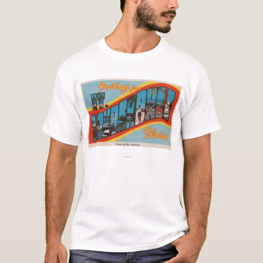 Ft. Lauderdale, Florida - Large Letter Scenes 2 T-Shirt