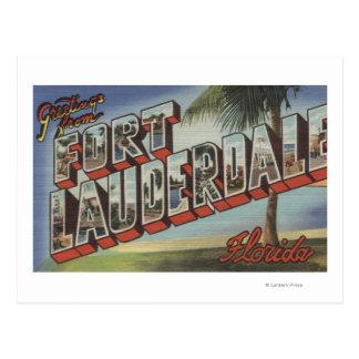 Ft. Lauderdale, Florida - Large Letter Scenes Postcard