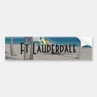 Ft Lauderdale Florida Lifeguard Stand Car Bumper Sticker