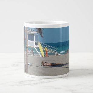 Ft Lauderdale Florida Lifeguard Stand Giant Coffee Mug