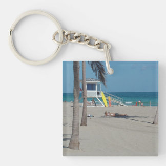 Ft Lauderdale Florida Lifeguard Stand Keychain