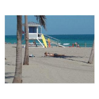 Ft Lauderdale Florida Lifeguard Stand Post Card