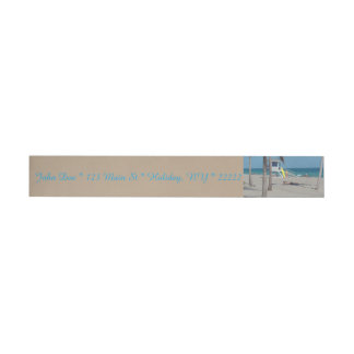 Ft Lauderdale Florida Lifeguard Stand Wrap Around Address Label