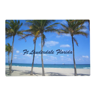 Ft Lauderdale Florida Sand Beach & Palm Trees Placemat