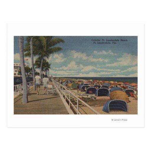 Ft. Lauderdale, Florida - View of Ft. L. Postcard