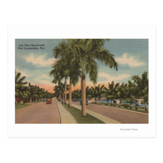 Ft. Lauderdale, Florida - View of Las Olas Postcard