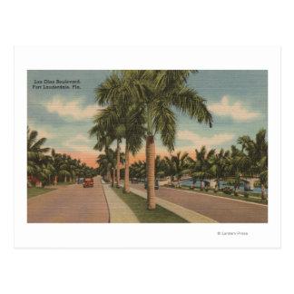 Ft. Lauderdale, Florida - View of Las Olas Postcard