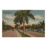 Ft. Lauderdale, Florida - View of Las Olas Poster