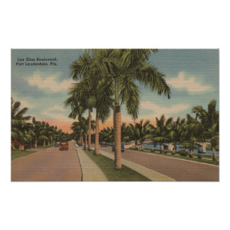 Ft. Lauderdale, Florida - View of Las Olas Print