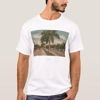 Ft. Lauderdale, Florida - View of Las Olas T-Shirt