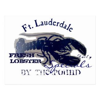 Ft. Lauderdale Fresh Lobster Post Cards