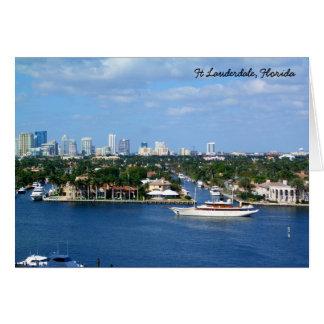 Ft Lauderdale Intracoastal Waterway & Skyline Card