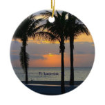 fort lauderdale, florida, sunrise, palm trees,