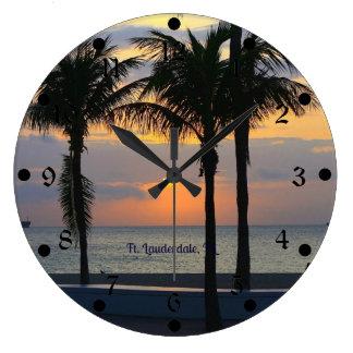 Ft. Lauderdale Sunset Wall Clocks