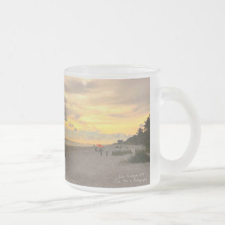 Ft Myers, Florida Frosted Glass Coffee Mug
